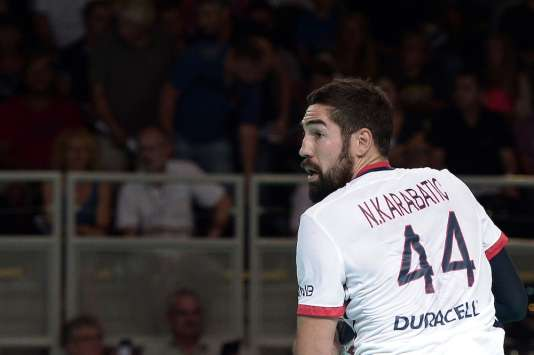 Nikola Karabatic, sous le maillot du PSG, le 20 août 2015 à Strasbourg.