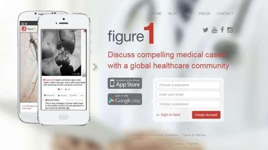 Capture d'écran de la page d'accueil du site de l'application Figure 1.