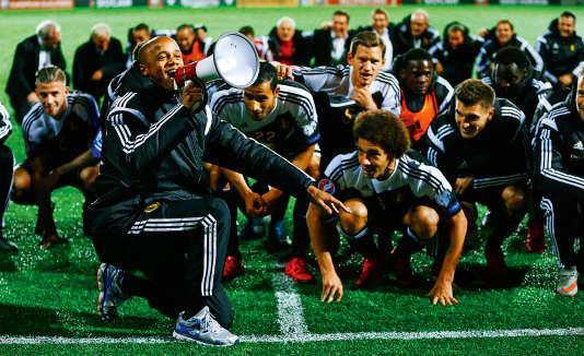 L'équipe de Belgique déjà victorieuse face à Andorre le 10 octobre.
