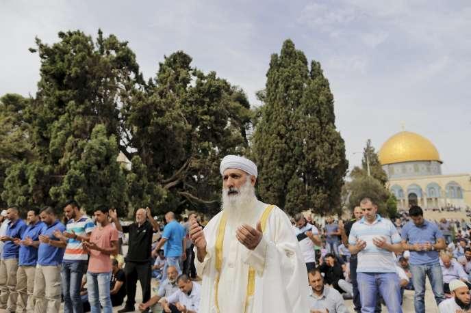Israël avait levé les restrictions d'accès à l'esplanade des Mosquées, à Jérusalem, le 23octobre 2015.