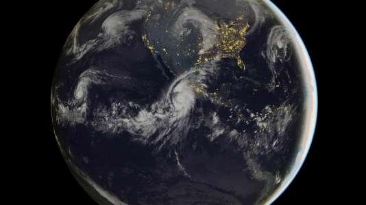 Photo satellite de l'ouragan Patricia en activité, le 23 octobre 2015. Il devrait frapper la côte pacifique mexicaine dans la soirée.