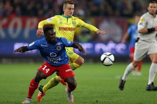 Caen s'est incliné face à Nantes en 11e journée de Ligue 1 de football, le 23 octobre 2015..