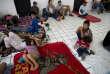 Des résidents et des touristes se mettent à l'abri à Puerto Vallarta, à l'approche de l'ouragan Patricia du Mexique, le vendredi 23 octobre.