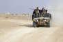 Patrouille des forces de sécurité irakienne dans la province sunnite de l'Anbar, dans le nord de Bagdad.