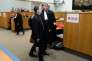 Le docteur Nicolas Bonnemaison et son avocat Arnaud Dupin, le 12 octobre, lors de l'ouverture du procès.