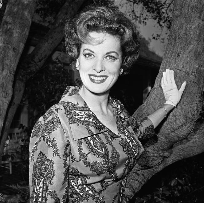 Maureen O'Hara, ici en 1960, est morte à l'âge de 95 ans.