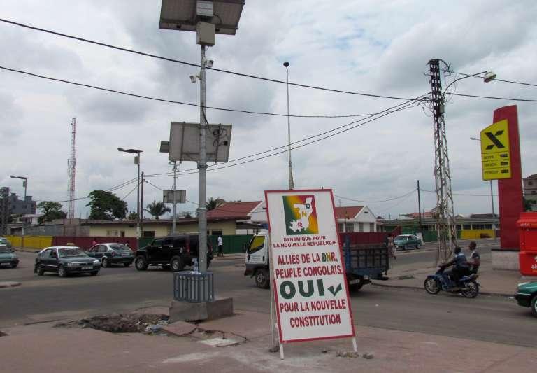 Dans une rue de Brazzaville, le 24 octobre.