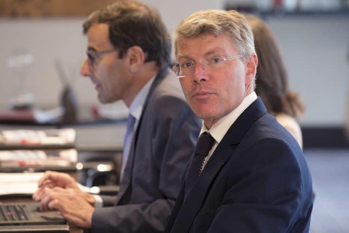 Pierre Berger, le 27août à Paris, lors de la présentation des résultats semestriels d'Eiffage.