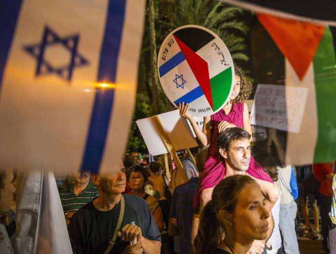 Rassemblement, place Rabin à Tel-Aviv, samedi 24 octobre, pour la paix avec les Palestiniens.