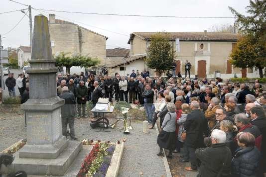 Un temps de prières a été organisé, dimanche 25 octobre, à Petit-Palais (Gironde).