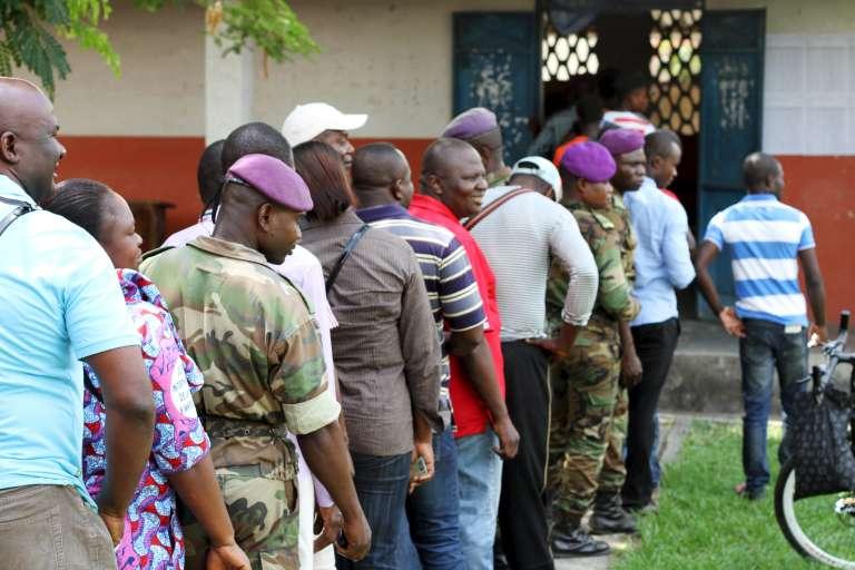 Lors du référendum constitutionnel au Congo, dimanche 25 octobre.