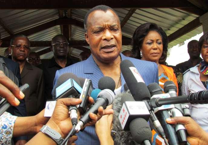 Le président congolais Denis Sassou-Nguessou, le 25octobre à Brazzaville.