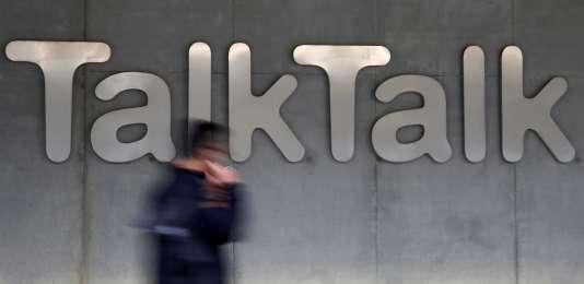 Le logo d'une boutique TalkTalk à Londres, en 2015.