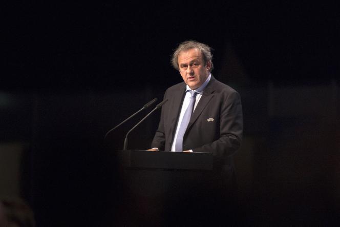 Michel Platini lors d'un congrès de l'UEFA en 2015.