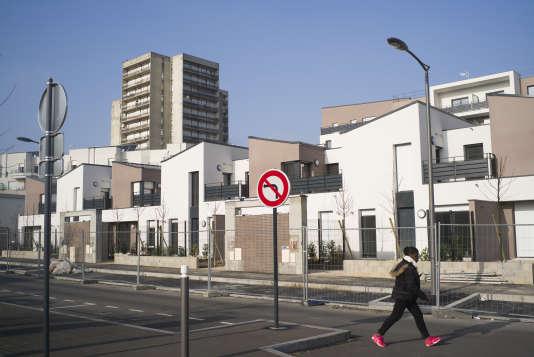 Les nouveaux quartiers résidentiels du Haut-Clichy, àClichy-sous-Bois, en janvier.