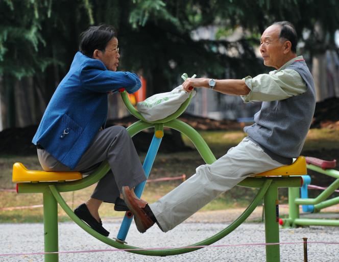 Dans un parc de Shanghaï, en 2008.