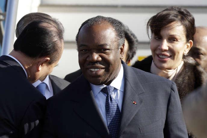 Ali Bongo et son épouse, Sylvia, à Séoul, en mars2012.