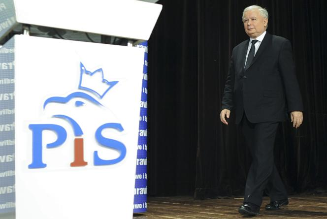 aroslaw Kaczynski, président de Droit et justice (PiS), à Varsovie, le 17 octobre.