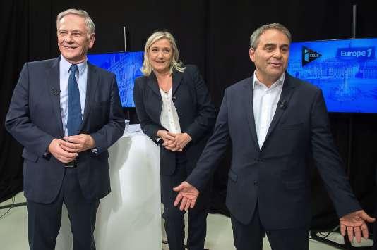 Les trois principaux candidats dans la grande région du nord débattaient mardi. Nous avons relevé leurs erreurs et approximations.