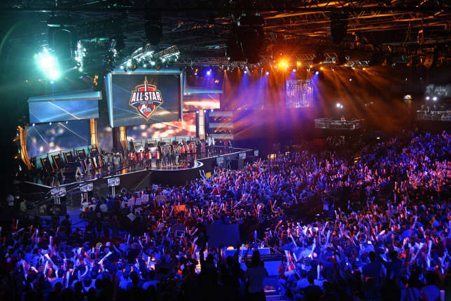 "Pendant un tournoi de ""League of Legends"" à Paris, le 8 mai 2014."