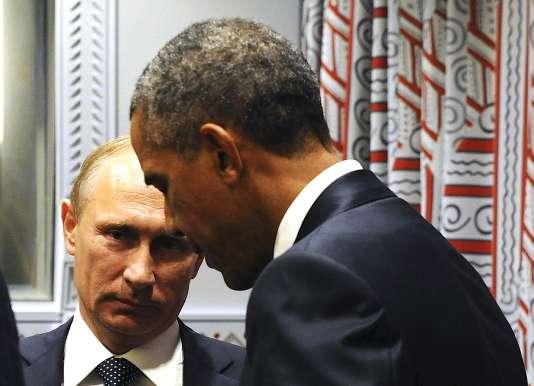 Vladimir Poutine et Barack Obama, lors de l'Assemblée générale de l'ONU à New York, le 28 septembre.