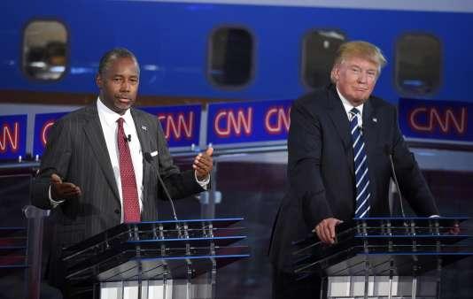 Donald Trump et Ben Carson, en septembre 2015.