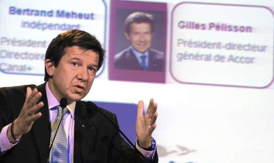 Gilles Pélisson, l'ancien PDG d'Euro Disney, d'Accor et de Bouygues Telecom, remplacera le 18 février Nonce Paolini à la présidence du groupe TF1. Le 29 juin 2010 à Paris.