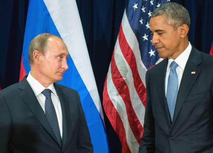 Barack Obama et Vladimir Poutine le 28 septembre 2015 au siège des Nations unies.