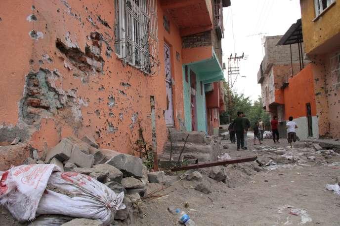 Dans le quartier de Sur, à Diyarbakir, le 13 octobre.