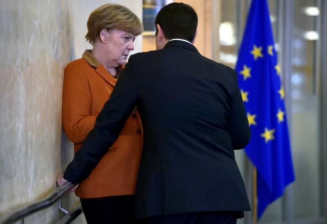 Angela Merkel et Alexis Tsipras à Bruxelles le 25 octobre 2015.