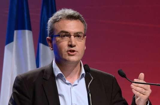 Aymeric Chauprade en mai 2014 à Paris, lors de sa campagne pour les élections européennes.