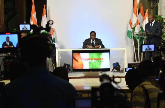 Youssouf Bakayoko, le président de la commission électorale indépendante de Côte d'Ivoire, le 28 octobre à Abidjan.