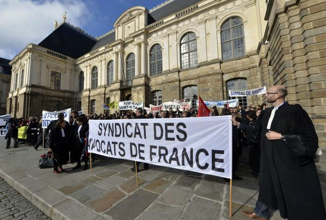 Manifestation d'avocats en Bretagne, le 28octobre.