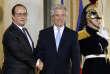 Le président français, François Hollande, reçoit à l'Elysée son homologue uruguayen, Tabaré Vazquez, le 28 octobre 2015.