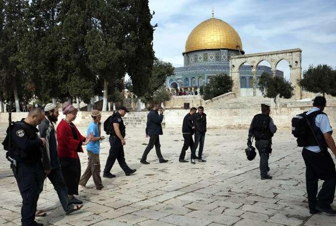 Le plateau des Mosquées que les Juifs appellent le Mont temple, le 28 octobre