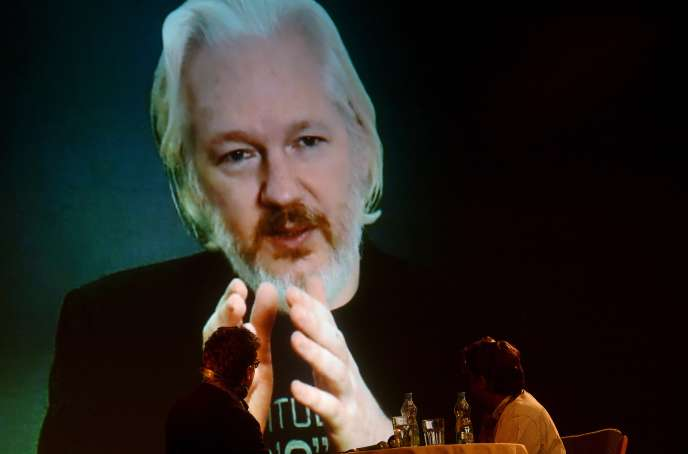 Julian Assange, à l'ambassade de l'Equateur, à Londres, en octobre 2015.