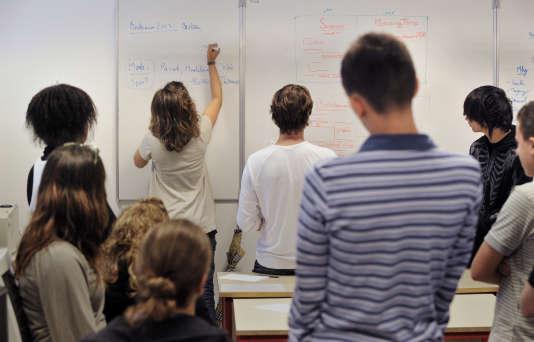 Elèves du lycée Condorcet à Bordeaux.