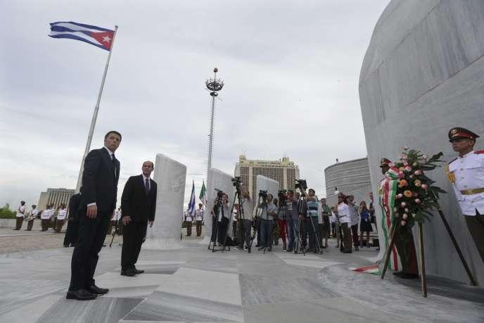Matteo Renzi, le 28 octobre à La Havane.