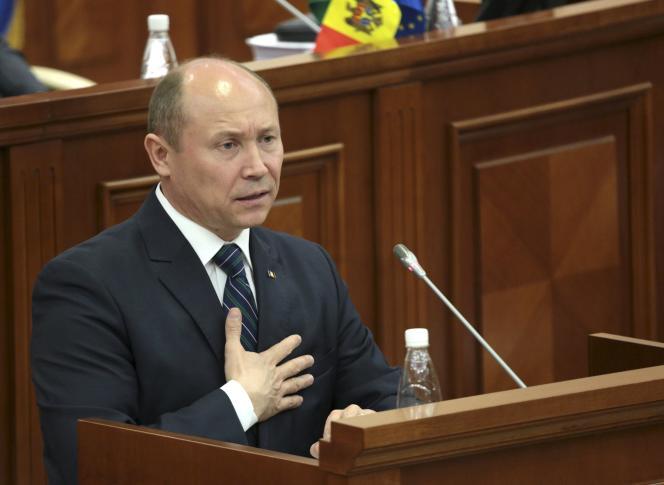 Le premier ministre moldave Valeriu Strelet, le 29 octobre à Chisinau.