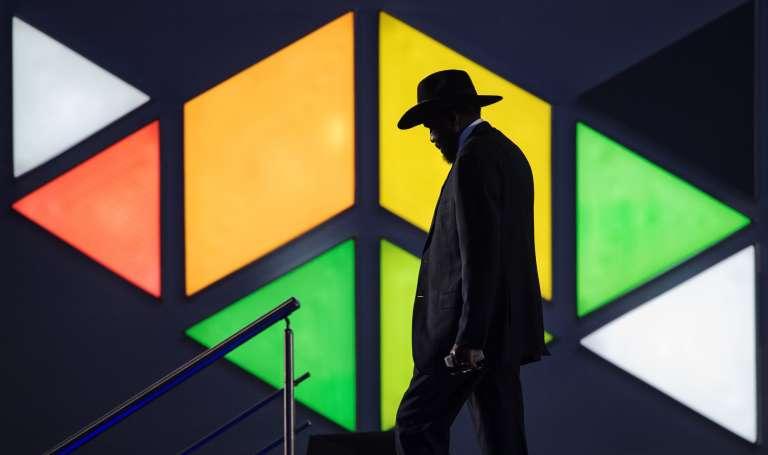 Le président du Soudan du Sud Salva Kiir à New Delhi, le 29 octobre.