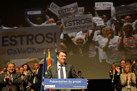 Le maire de Nice en meeting à Marseille le 9 octobre 2015