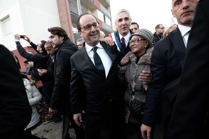 François Hollande en visite à Vandœuvre-les-Nancy (Meurthe-et-Moselle), le 29 octobre.