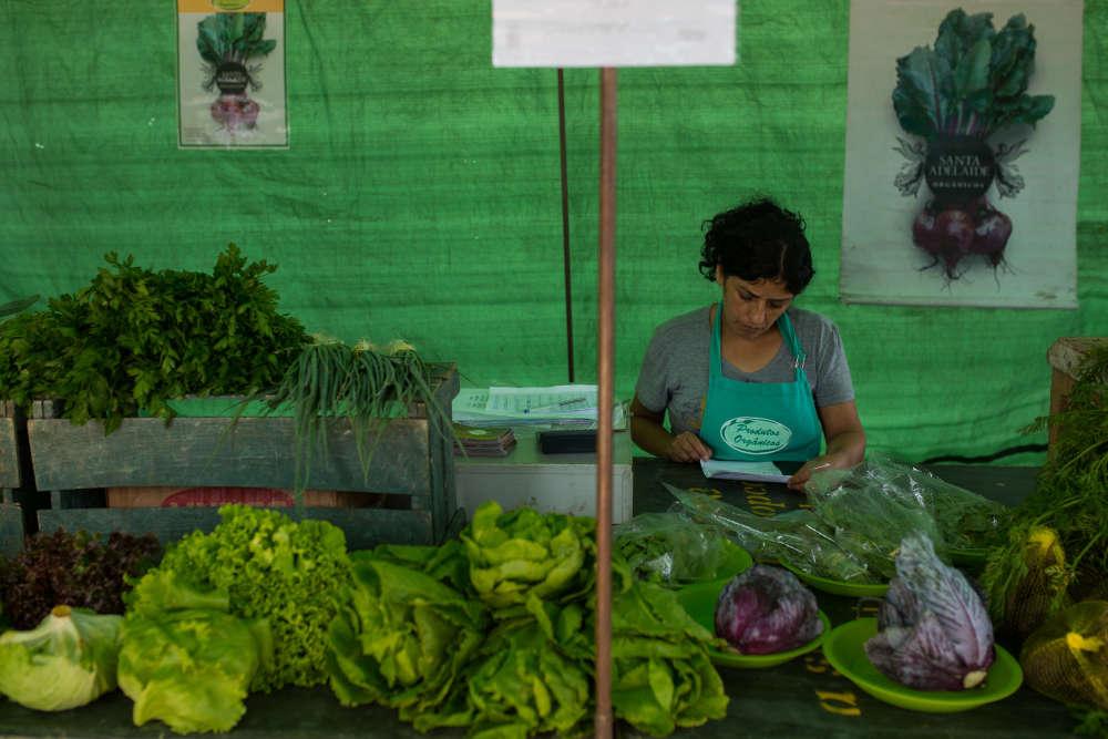 L'offre de produits bio témoigne du changement très progressif des mentalités brésiliennes.