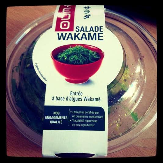 Salade à base de wakamé.