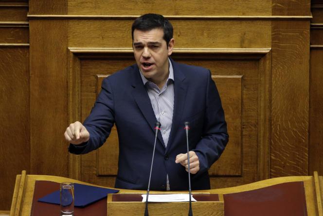 Le premier ministre grec Alexis Tsipras au Parlement, le 30 octobre.