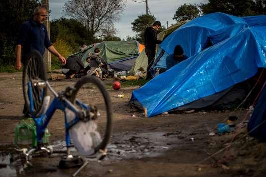 Dans la « jungle » de Calais, le 30 octobre.