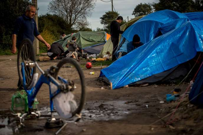 Dans la « jungle » de Calais, le 30 octobre.