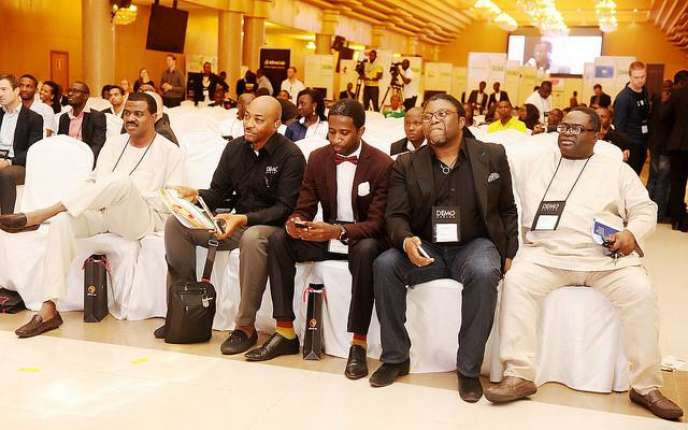Le jury d'investisseurs africains lors de l'édition de DEMO Africa, à Lagos en septembre 2014.
