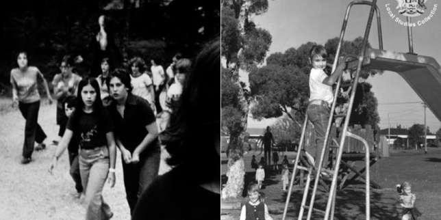 """Deux montages originaux du """"Slender Man""""."""