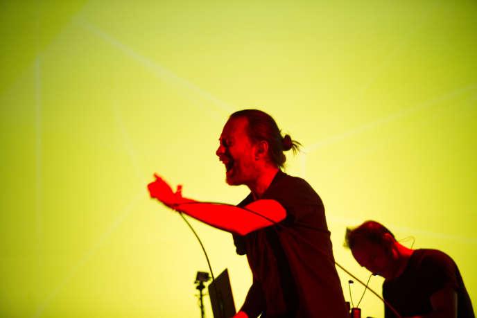 Thom Yorke en concert vendredi 30 octobre au Pitchfork Festival, à Paris.